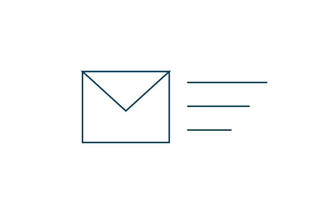 Graphical representation of envelope